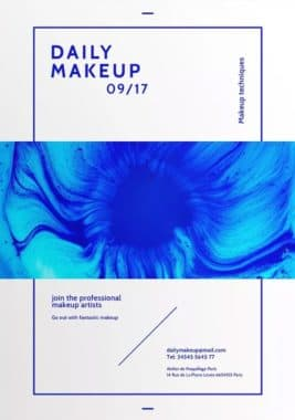 Makeup Techniques Flyer and Poster Template
