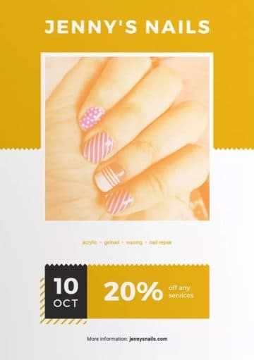 Nail Salon Services Free Flyer and Poster Template