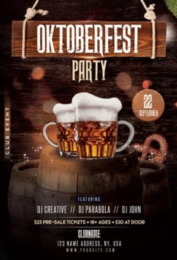 Oktoberfest Party Free Flyer Template