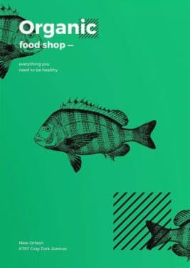 Organic Food Shop Free Flyer and Poster Template