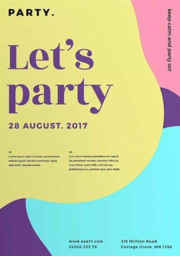 Party Color Free Flyer and Poster Template