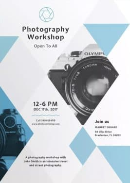 Photography Workshop Free Flyer and Poster Template