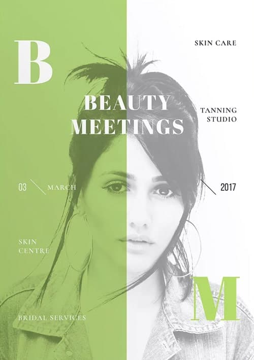Skin Centre Tanning Studio Flyer and Poster Template