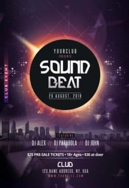 Sound Beat DJ Free Party Flyer Template