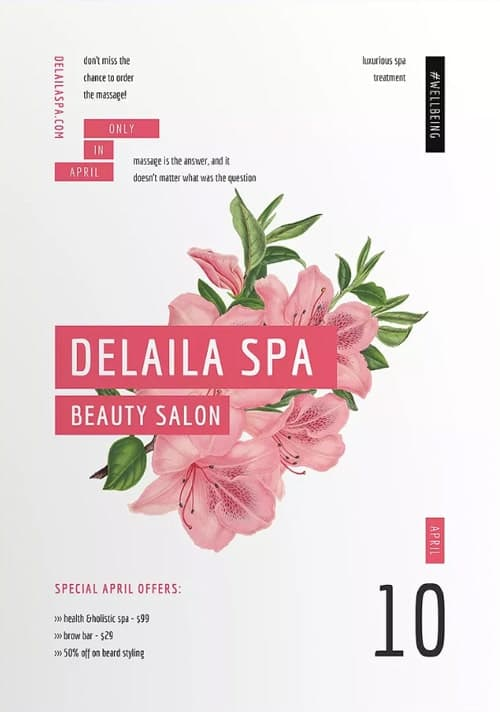 Spa Beauty Salon Flyer and Poster Template
