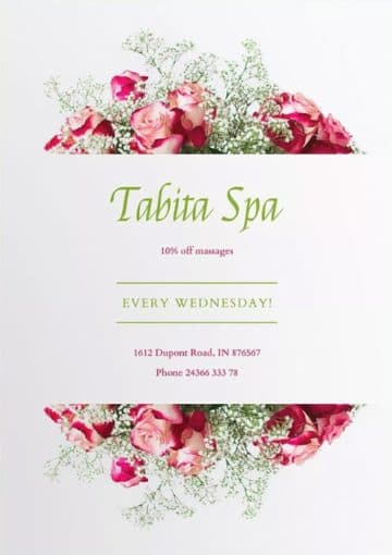 Spa Salon Flyer and Poster Template