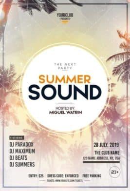 Summer Sound Free Party Flyer Template