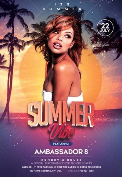 Summer Vibe Free Flyer Template