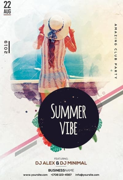 Summer Vibe Free Flyer and Poster Template
