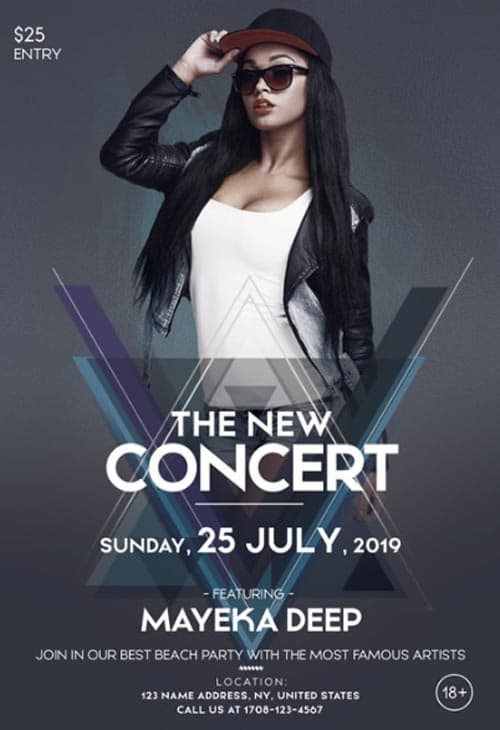 The Concert Party Free Flyer Template
