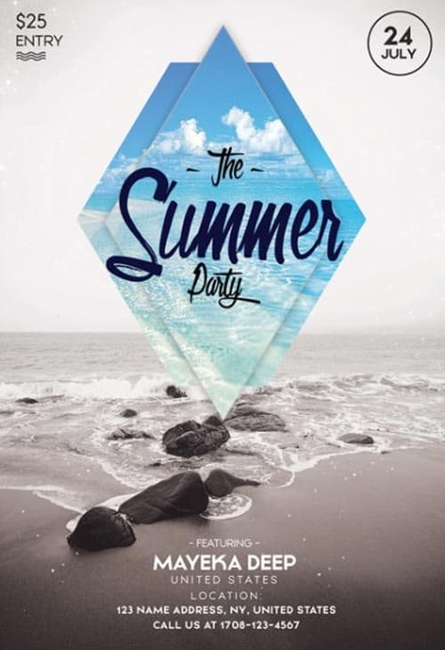 Minimal Summer Free Flyer Template