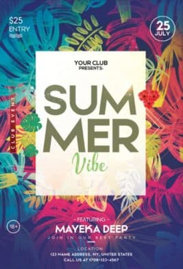 Tropical Summer Free Flyer Template