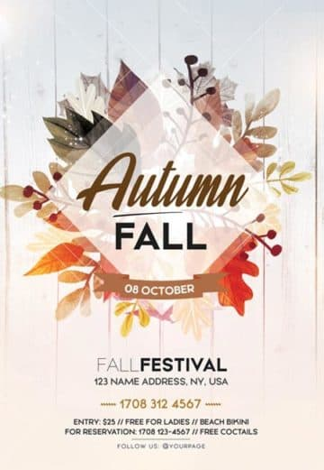 Fall Autumn Festival Free Flyer Template