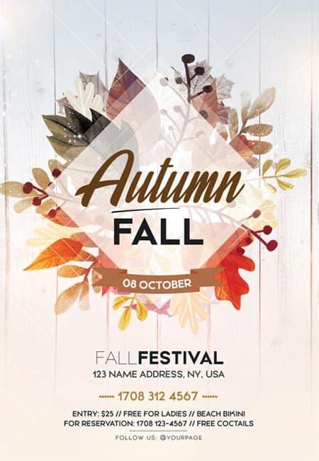 Fall Autumn Festival Free Flyer Template