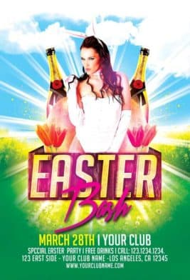 Easter Bash Party Free Flyer Template
