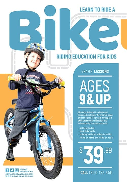Children's Cycling Free Flyer Templates