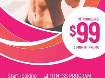 Female Fitness Free Flyer Templates