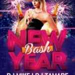New Year Bash Free Flyer Template