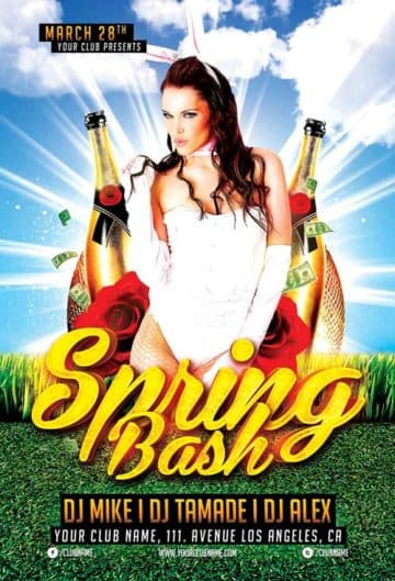 Spring Bash Party Free Flyer Template