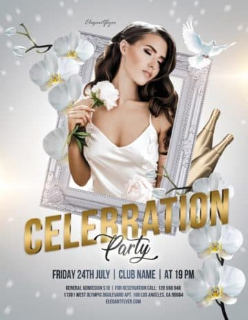 Celebration Party Free PSD Flyer Template
