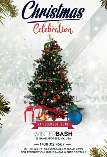 Christmas Celebration Free Flyer Template