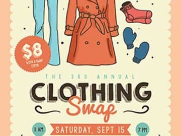 Community Clothing Swap Free Flyer Template