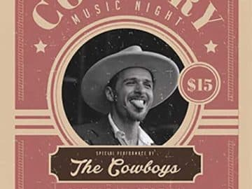 Country Night Free Flyer Template