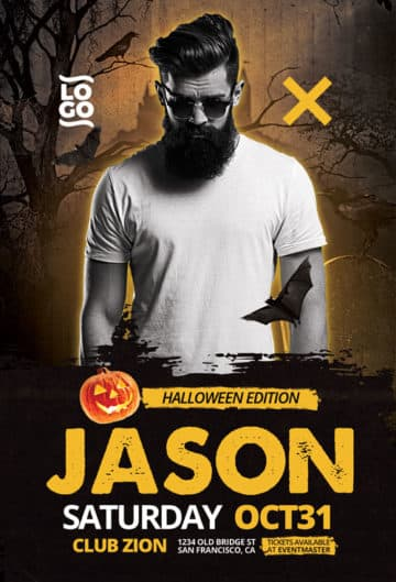 DJ Artist Halloween Edition Free Flyer Template