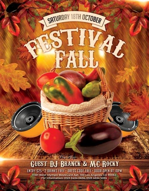 Fall Festivals Free PSD Flyer Template