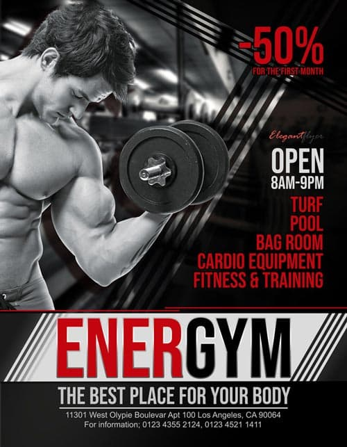 Gym Free Fitness Flyer Template