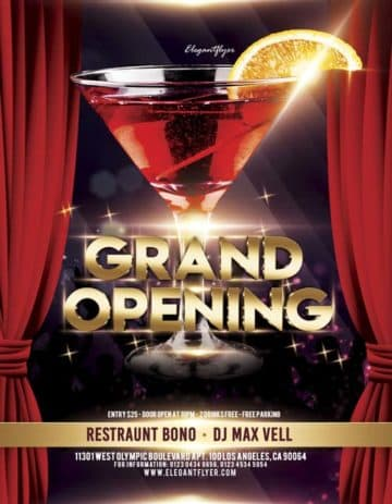 Grand Opening Free Flyer Template