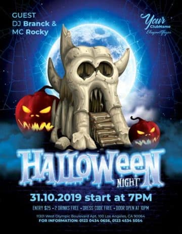 Halloween Night Event Free PSD Flyer Template