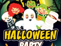 Kids Halloween Party Free Flyer Template