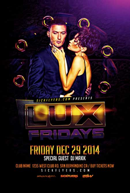 Lux Fridays Free Flyer Template
