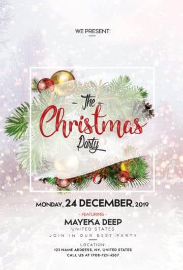 Merry Christmas Free Flyer Template