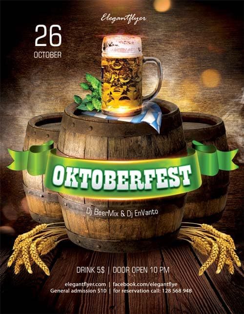 October Fest Free PSD Flyer Template
