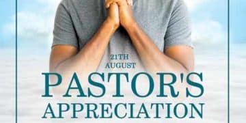 Pastor's Appreciation Free Church Flyer Flyer Template