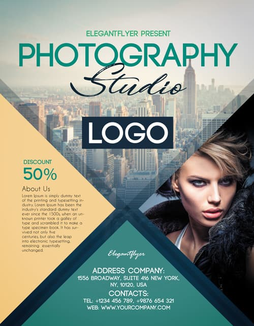 Photography Studio Free PSD Flyer Template