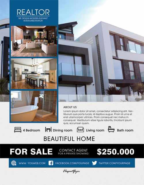 Realtor Real Estate Free PSD Flyer Template