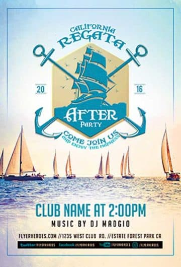 Regata After Party Free Flyer Template