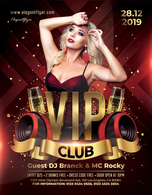 VIP Club Free Flyer Template