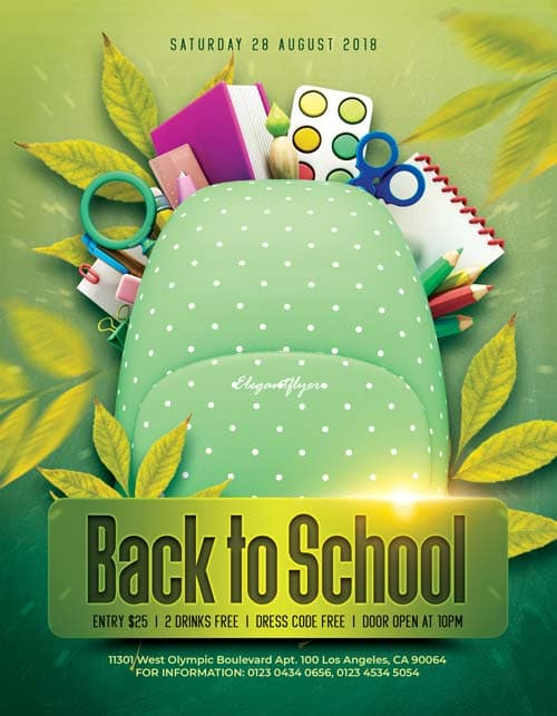 Back to School Free Flyer PSD Template