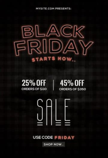 Black Friday Event Free PSD Flyer Template