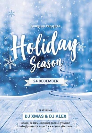Christmas Holiday Season Free PSD Flyer Template