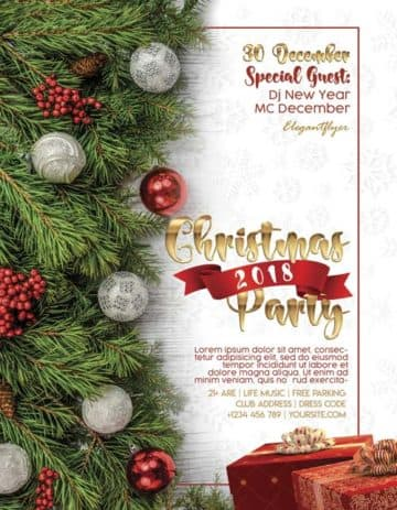 Christmas Party 2018 Free PSD Flyer Template