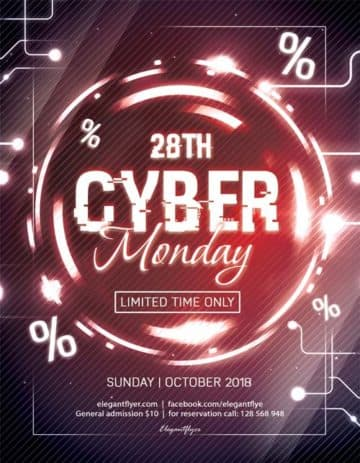 Cyber Monday Free Flyer PSD Template