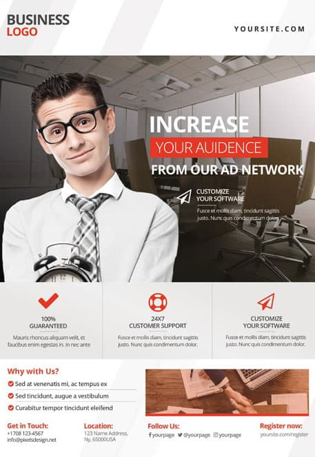 Corporate Free Business PSD Flyer Template