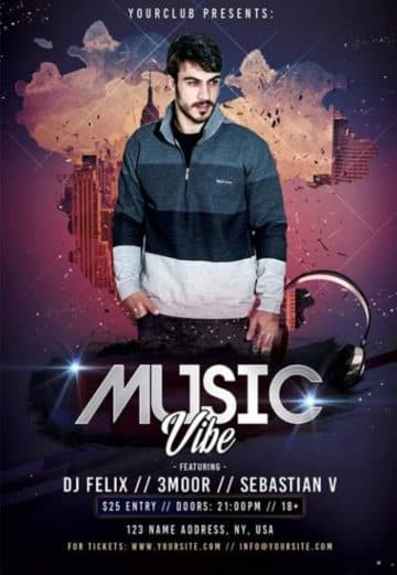 Music Vibe Free PSD Flyer Template