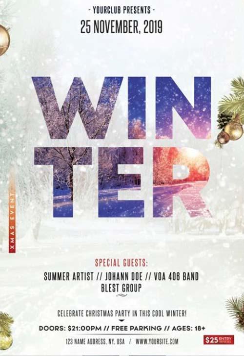 Winter Season Free PSD Flyer Template