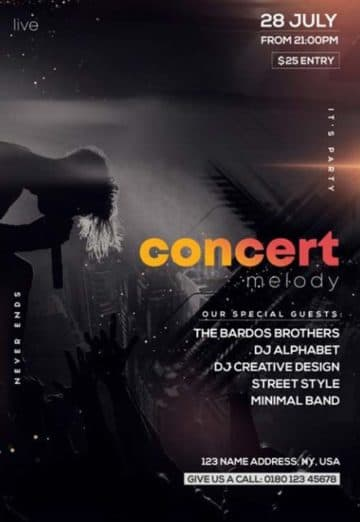 Alternative Rock Concert Free PSD Flyer Template